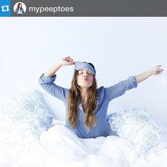 La top blogger My Peeptoes con nuestra Camisola Modelo Denim y antifaz Denim. http://www.vickybargallo.com/mujer/210-denim.html Pjs Pajamas Pijamas Nightdress