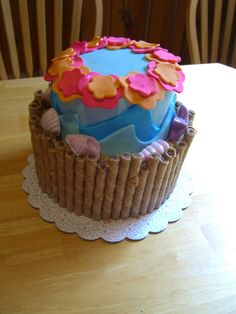 Luau Birthday Cake idea