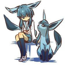 Glaceon girl... Is so cute <3