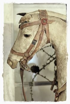 Shabby Lifestyle and Cottage Garden Antique Rocking Horse, Vintage Horse, Rocking Horses, Shabby Cottage, Shabby Chic, Wooden Horse, Giveaway, Green Bedding, Horse Sculpture