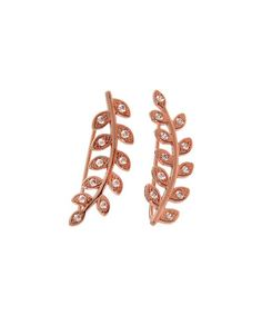 Look what I found on #zulily! Cubic Zirconia & Rose Gold Pavé Wreath Ear Climber #zulilyfinds