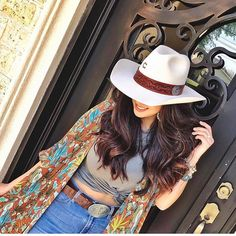 Our beautiful customers rocking hats from Cowboy Outfits For Women, Sexy Cowgirl Outfits, Country Style Outfits, Rodeo Outfits, Western Wear For Women, Country Fashion, Outfits With Hats, Cute Outfits, Estilo Cowgirl