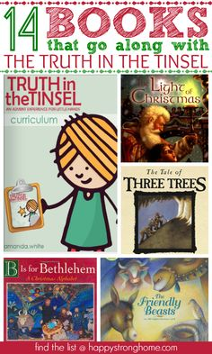 Books that Go Along With The Truth in the Tinsel advent calendar Christmas countdown children's curriculum (Black Friday Sale!)