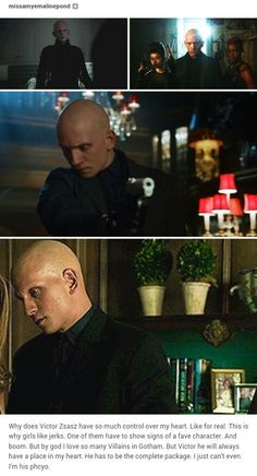 Victor Zsasz so if you ever want to follow me on Tumblr this is my post lol. I approve this pin. ❤️