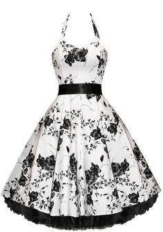 Prim and Proper Floral Bouquet Dress - 50s style