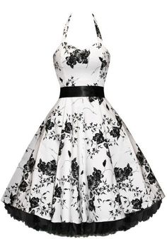 Prim and Proper Floral Bouquet Dress - 50s style