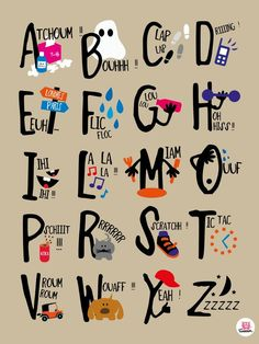 ABC's, Onomatopeia, French | Source: A Little Market