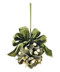 Mistletoe Kissing Ball Ornament - Zulily.com