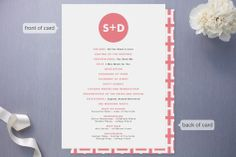 Mod Monogram Wedding Programs by Waui Design at minted.com