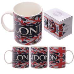 Ted Smith Union Jack London Bone China Mug
