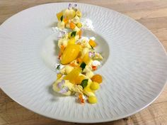 Coconut Cremeux, Mango Gel, Pineapple Curd, Mango Passion Fruit Sorbet, Pineapple Foam, Coconut Powder, Mango Glass, Dried Pineapple, Mango Compote by Pastry Chef Antonio Bachour, via Flickr