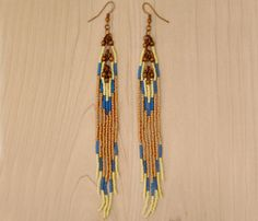 bead fringe earrings.