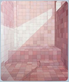 Tu recepcja - Paintings by Adriana Varejão - Saunas and Baths...