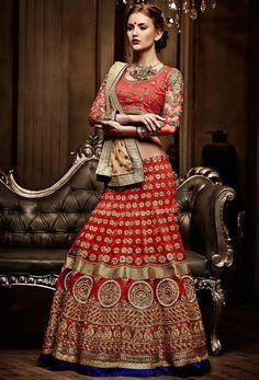 Spellbinding Red Bridal Lehenga Choli