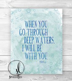 Bible Verse Art Print Scripture Typography by SpoonLily on Etsy, $10.00