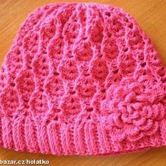 Čepičky – 2. stránka – NÁVODY NA HÁČKOVÁNÍ Crochet Baby Hat Patterns, Crochet Baby Hats, Knit Or Crochet, Cute Crochet, Crochet Scarves, Crochet Motif, Crochet Crafts, Crochet Stitches, Baby Knitting