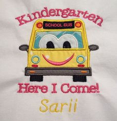 Kindergarten Here I Come T-Shirt on Etsy, $22.00