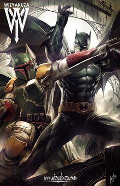 Batman vs Boba Fett by Wizyakuza