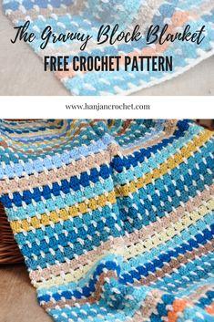 8660d8deb2f816 The Yarn Stash Series - how to crochet the granny block stitch free crochet  blanket pattern