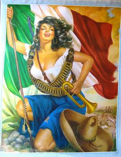 ... woman from the Mexican revolution poster