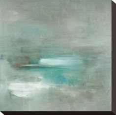 Misty Pale Azura Sea Stretched Canvas Print by Heather Ross at Art.com