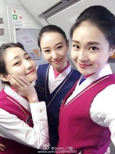 China Southern Airlines, Office Skirt, Military Women, Cabin Crew, Flight Attendant, Beautiful Asian Girls, Asian Woman, Plane, Mini Skirts
