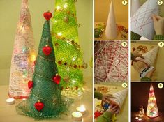 25 Beautiful Christmas Tree DIY Ideas for your inspiration Homemade Christmas Tree, Handmade Christmas, Christmas Holidays, Christmas Decorations, Christmas Ornaments, Holiday Decor, Navidad Diy, Beautiful Christmas Trees, Diy Weihnachten