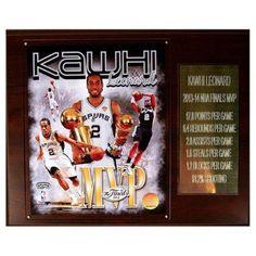 C and I Collectables NBA 15W x 12H in. Kawhi Leonard San Antonio Spurs 2013-2014 Finals MVP Plaque - 1215LEONARDMVP