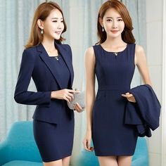 Women S Fashion Dresses Wholesale Code: 1007767174 Classy Work Outfits, Business Casual Outfits, Business Dresses, Womens Dress Suits, Suits For Women, Clothes For Women, Short Beach Dresses, Dress Outfits, Fashion Outfits