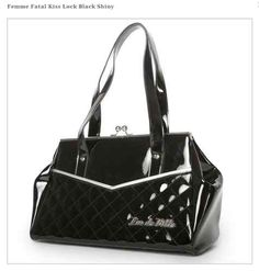 Lux de Ville Femme Fatale Kiss Lock Black Handbag Pinup Retro Vintage Punk Hot | eBay