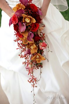 Long sweeping bouquet
