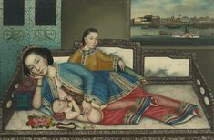 nursing mother with infant and     painting     sotheby's n09393lot7c8f8en