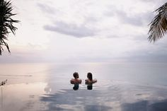 Young couple relaxing in an infinity pool by Brent Hill - Couple, Swim - Stocksy United Bali Elephant, Swimming Pool Photography, Infinity Pools, Honeymoon Pictures, Hamilton Island, Couple Relationship, Summer Photos, Young Couples, Resort Style