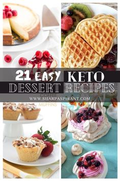Have a guilt-free Ketogenic diet while indulging in these simply irresistible KETO dessert recipes! Quick Easy Desserts, Keto Dessert Easy, Dessert Recipes, Guilt Free, Ketogenic Diet, Keto Recipes, Waffles, Low Carb, Chocolate