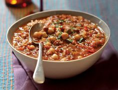 Moroccan Lentil Stew With Raisins. Exotic flavors, healthy and delicious