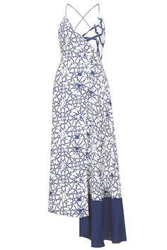 **Star Silk Maxi Strappy Dress by Unique - Unique  - Clothing