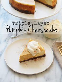 d163a874c94c Triple Layer Pumpkin Cheesecake (Typical Domestic Babe)