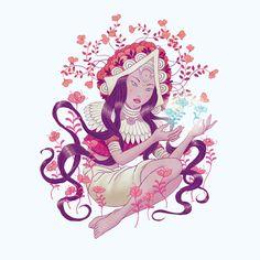 Beatrix Papp on Behance Botanical Illustration, Digital Illustration, Cover Art, Disney Characters, Fictional Characters, Witch, Behance, Illustrations, Disney Princess