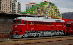 Hungarian State Railways Sergei Diesel Locomotive by DxcMc Rail Train, Bonde, Diesel Locomotive, Hungary, Transportation, World, Railings, Yellow, Europe