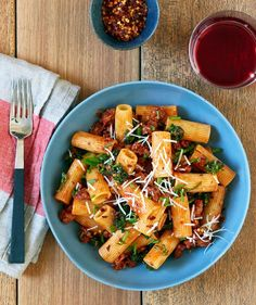 Justin Severino's Recipe for Rigatoni With Italian Sausage and Rapini Red Sauce