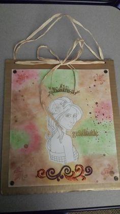 """Gratitude"" door hanging by sambuCOrona."