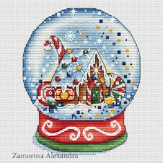 Gingerbread Snow Globe