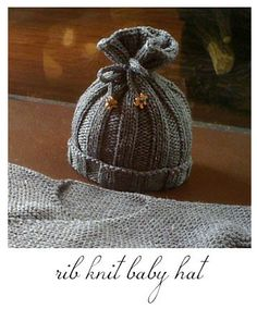 Sorella and Company: Rib Knit Baby Hat