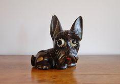 Oswald Rolling Eye Clock Scottish Terrier door CobblestonesVintage