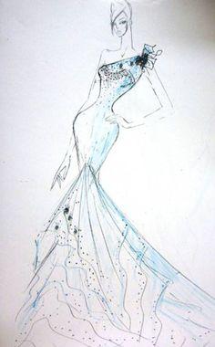 Keira Knightley Bridal Sketch - Ines di Santo