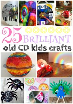 These recycled cd crafts for kids are brilliant!