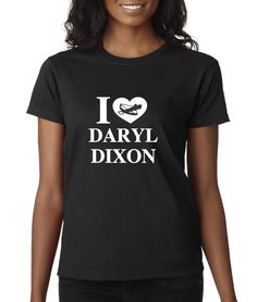 Daryl is arguably one of the show's most popular characters and now you can profess your love for Daryl with this professionally heat pressed ladies short sleeve t-shirt.