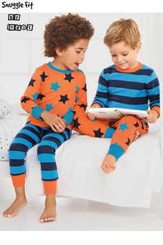 Buy Orange Stars And Stripes Pyjamas Two Pack from the Next UK online shop