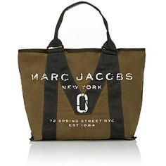 Marc Jacobs Women's Logo Tote Bag (12.830 RUB) ❤ liked on Polyvore featuring bags, handbags, tote bags, green, logo tote bags, canvas tote handbags, marc jacobs handbags, marc jacobs tote and handbags totes