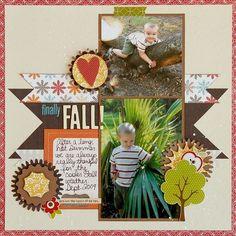 scrapbook layouts fall | Scrapbook Layouts / Finally Fall! (Scraptastic Club) - Scrapbook ...